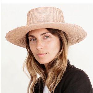"""Janessa Leone """"Calla"""" straw bolero in light pink"""